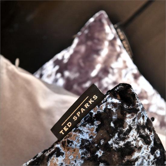 TED SPARKS - Cushion - Pure Velvet - Warm Grey - 45 x 45
