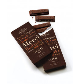 Café-Tasse Dark 60% chocolate family bar THANK YOU edition