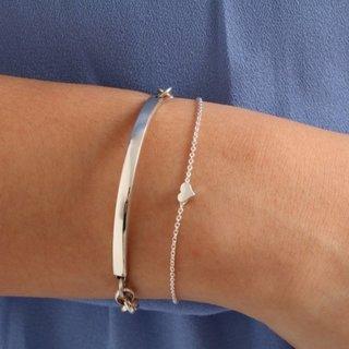 Hartjes armband - 925 zilver