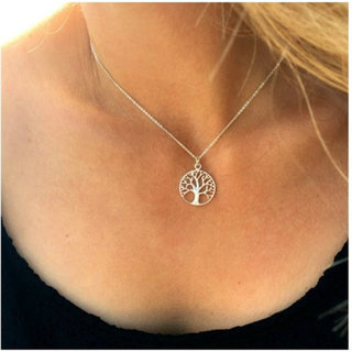 Tree of life ketting - 925 zilver
