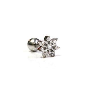 Sparkly flower piercing