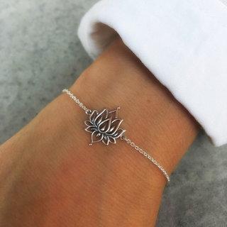 Armband white lotus - 925 zilver
