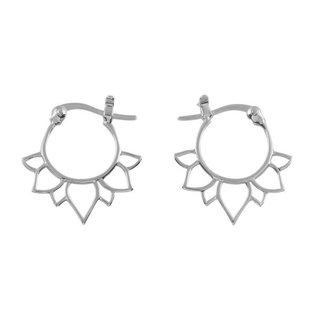 Lotus oorringen - 925 zilver