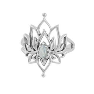 White Lotus ring - maansteen