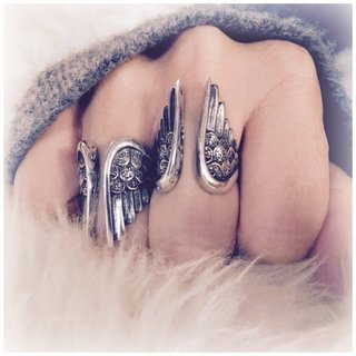 Boho ring Angel - 925 zilver