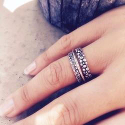 Setje Bali ringen - 925 zilver