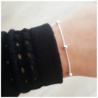 Silver ball armband - 925 zilver