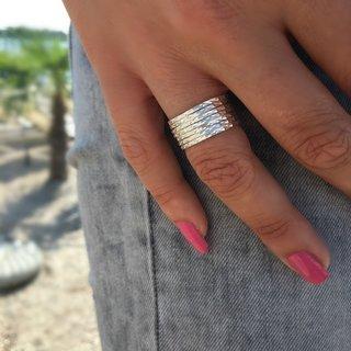 Bali ring Layered - 925 zilver