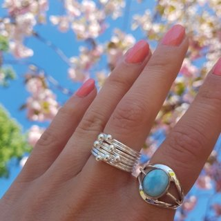 Silver Ball ring - 925 zilver
