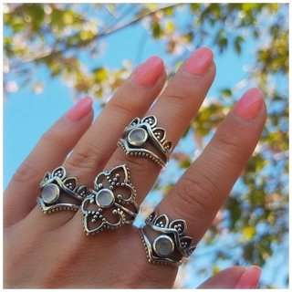Moonstone Bella ring - 925 zilver