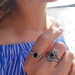 Sundance ring black onyx - 925 zilver