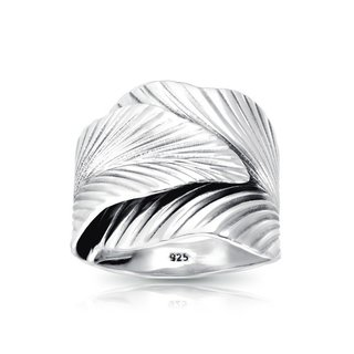 Boho ring Leaf - 925 zilver