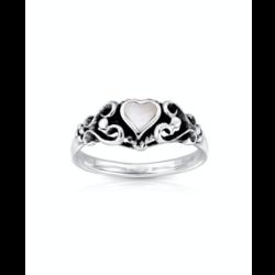 Boho ring Hearts Shell - 925 zilver