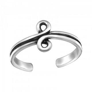 Teenring Swirl - 925 zilver