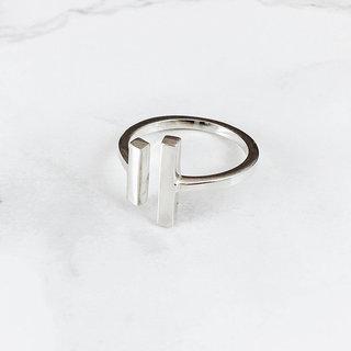 Boho ring Bar - 925 zilver
