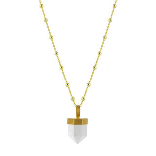 Ketting Skylar White - Goldplated