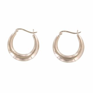 Plain hoops 25mm - Roséplated