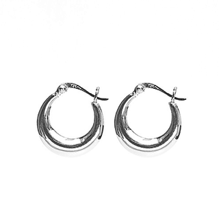 Plain hoops 18mm - 925 zilver