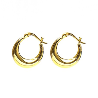 Plain hoops 18mm - goldplated
