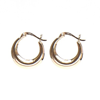 Plain hoops 18mm - Roséplated