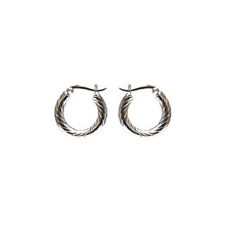Twisted hoops small - zilver