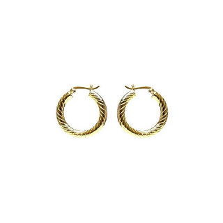 Twisted hoops small - goud