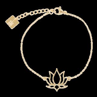 ZAG armband lotus goud