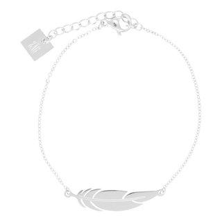 ZAG armband met veertje zilver