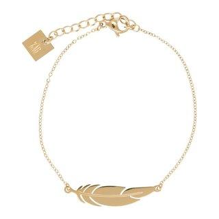ZAG armband veertje goud