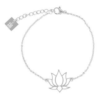 ZAG armband lotus zilver
