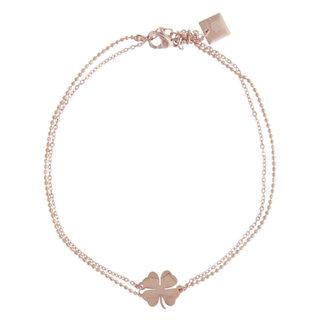 ZAG enkelband clover - rose gold plated