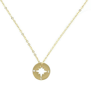ZAG ketting kompas goud