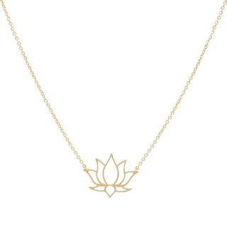 ZAG ketting lotus goud