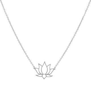 ZAG ketting lotus zilver
