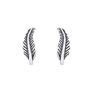 Oorknopjes Feather Daisy - 925 zilver