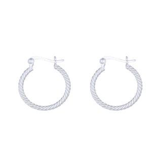 Silver twist earring