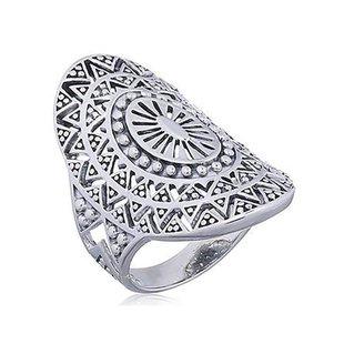 Boho ring Mandala - 925 zilver