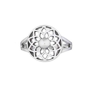 Lily flower ring - 925 zilver