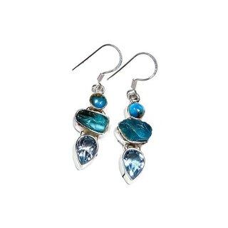Oorhangers Blue Topaz - 925 zilver
