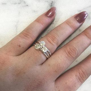 Ring Moonstone Three - 925 zilver
