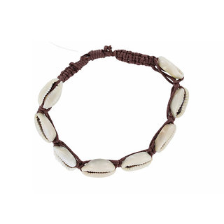Enkelbandje Cowrie Shell Brown