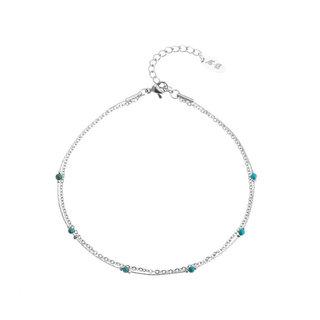Enkelbandje Turquoise Beads