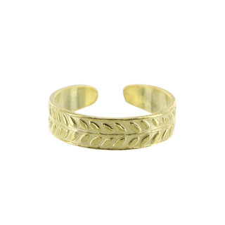 Jaipur teenring - goldplated