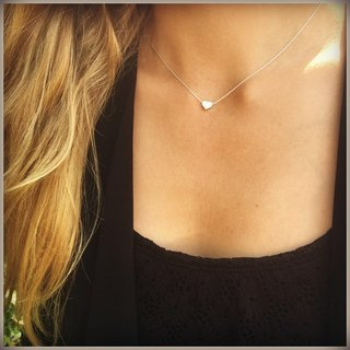 Heart necklace - 925 zilver