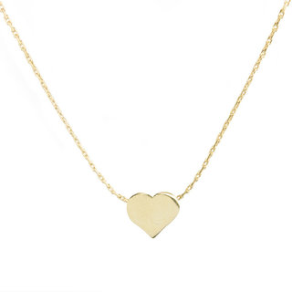 Heart necklace - goldplated
