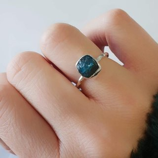 Apatite Rough Ring - 925 zilver