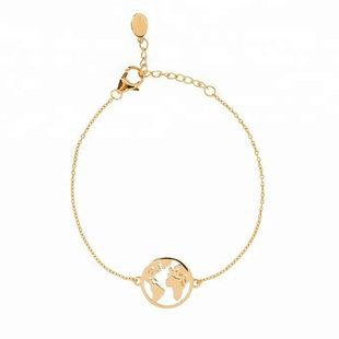World map bracelet
