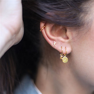 Ear cuff ball - goud