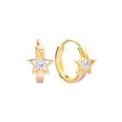 Star Huggie Hoops - goud