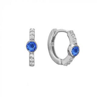 Altair Huggie Hoops Sapphire - zilver